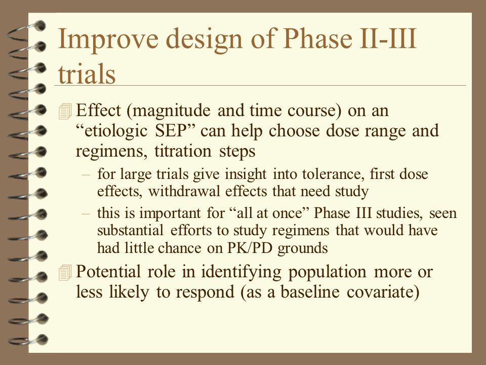 Improve design of Phase II-III trials