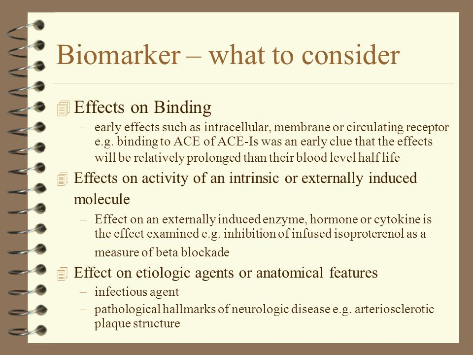 Biomarker – what to consider