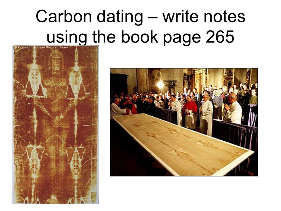 Short note on carbon dating