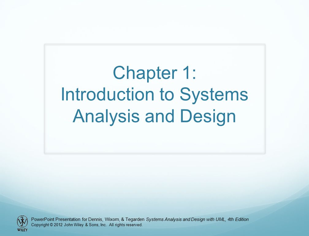 Chapter 1 Introduction To Systems Analysis And Design Ppt Video Online Download