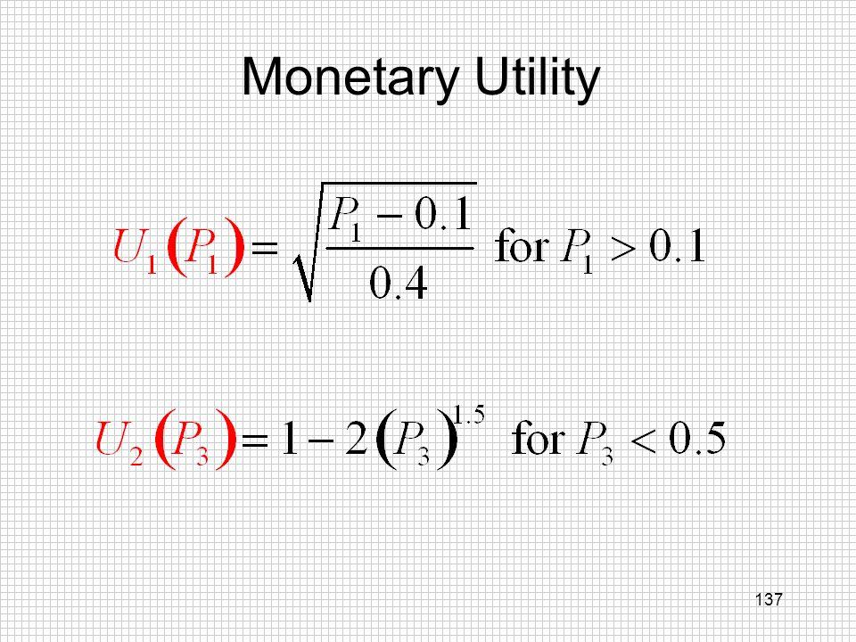 Monetary Utility