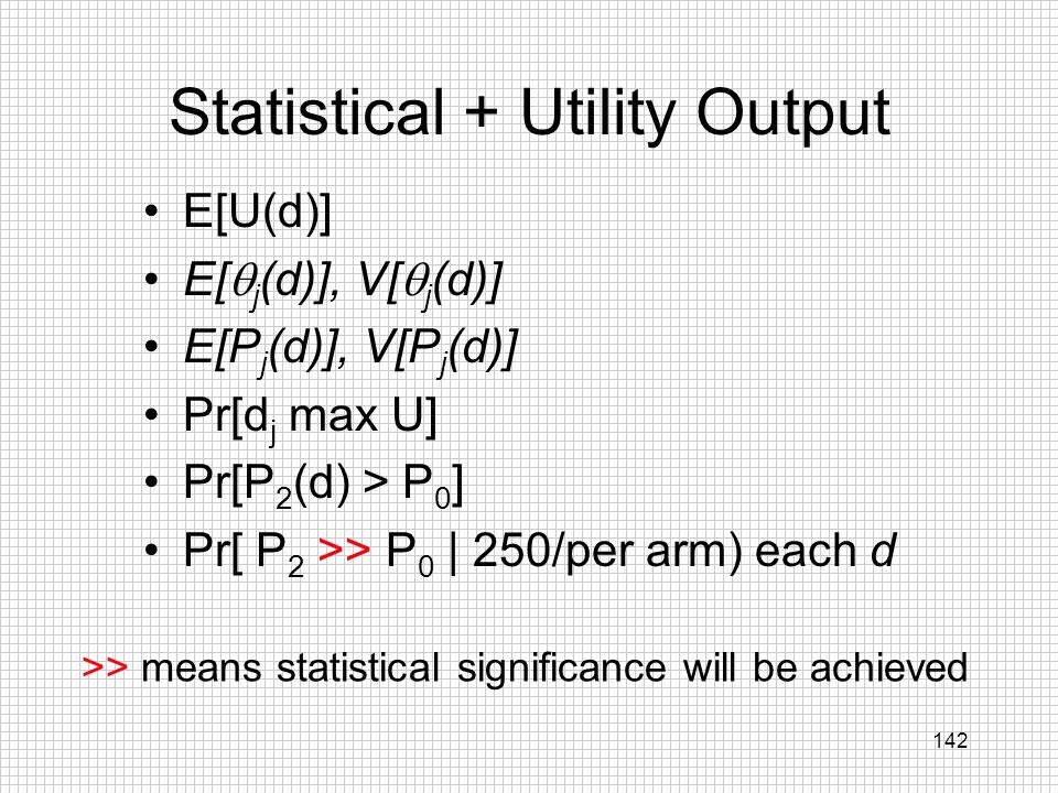 Statistical + Utility Output