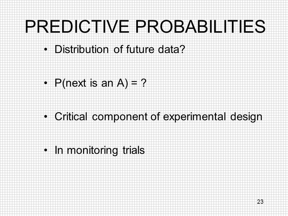 PREDICTIVE PROBABILITIES