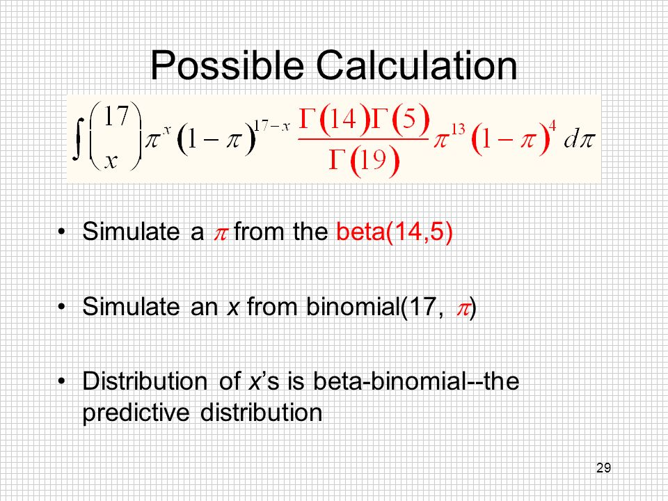 Possible Calculation Simulate a  from the beta(14,5)