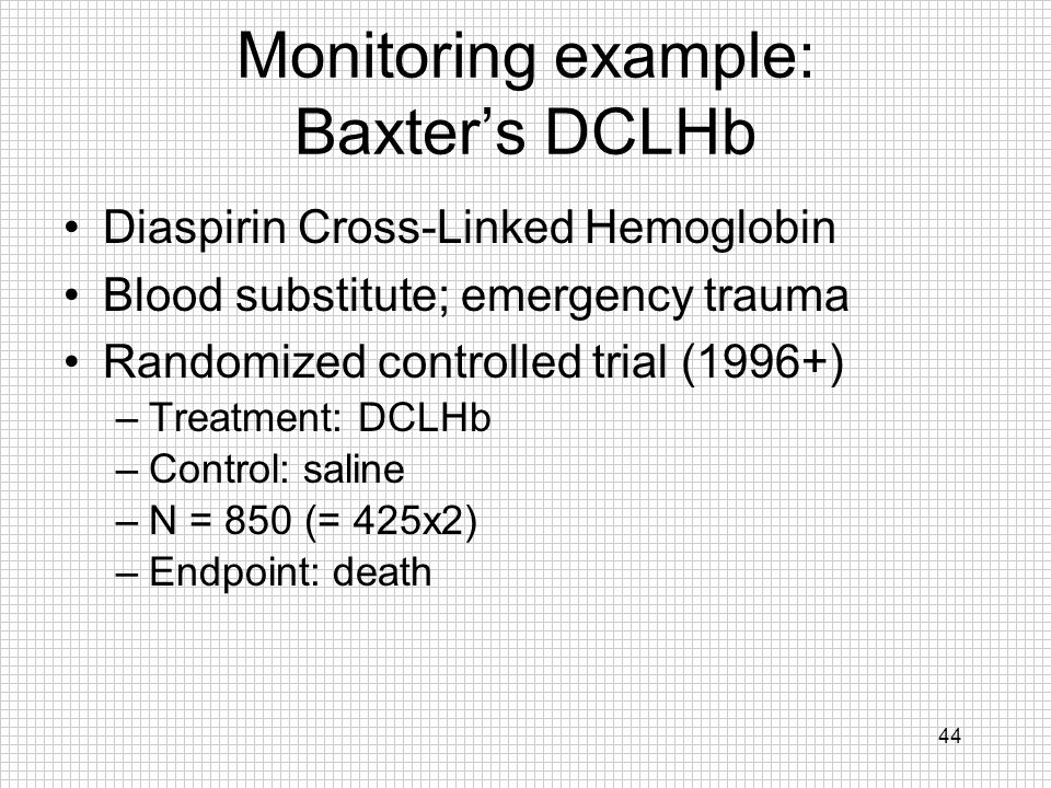 Monitoring example: Baxter's DCLHb