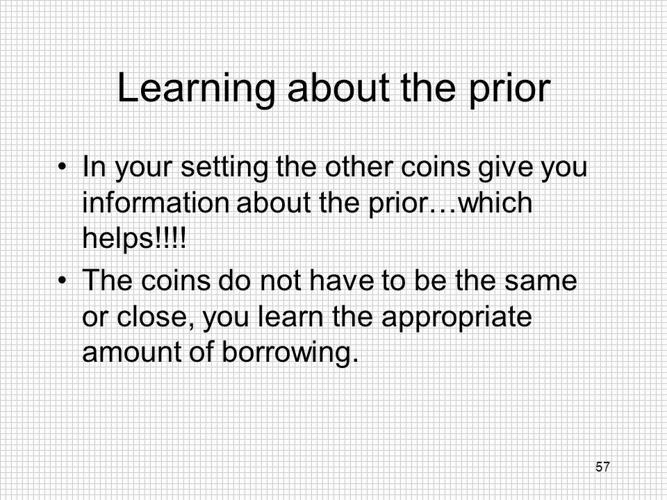 Learning about the prior