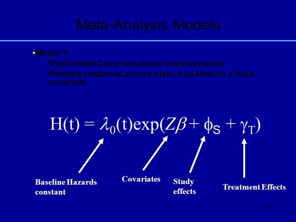 H(t) = l0(t)exp(Zb + fS + gT)