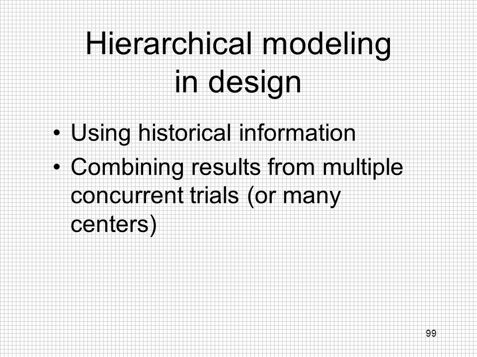 Hierarchical modeling in design