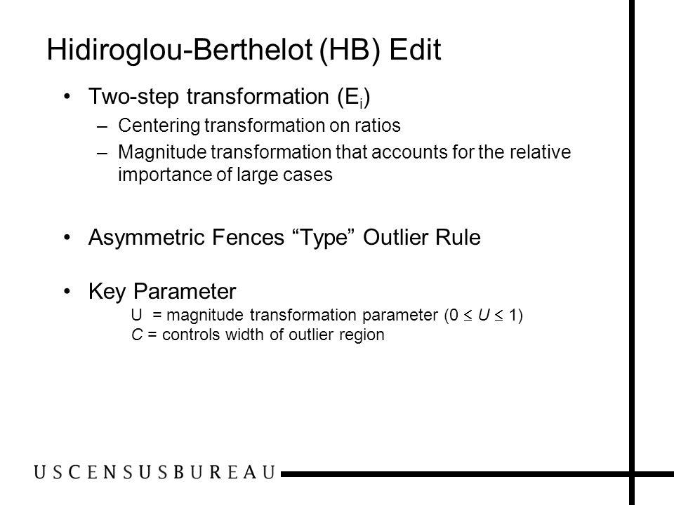Hidiroglou-Berthelot (HB) Edit