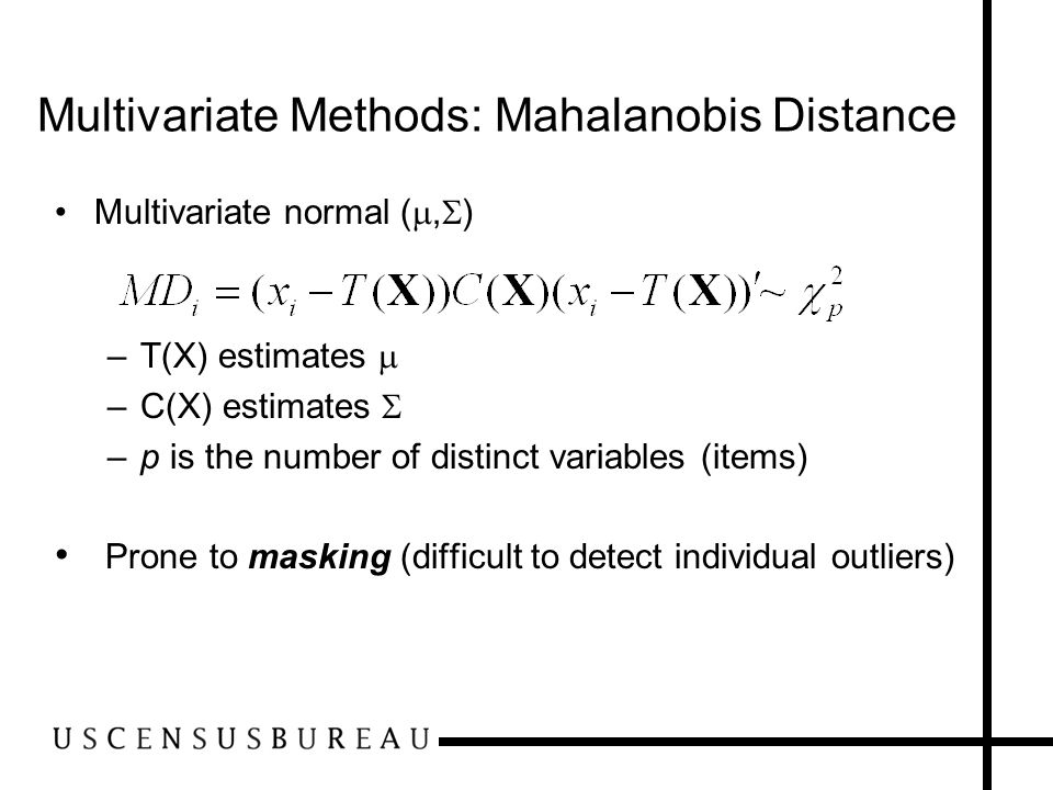 Multivariate Methods: Mahalanobis Distance