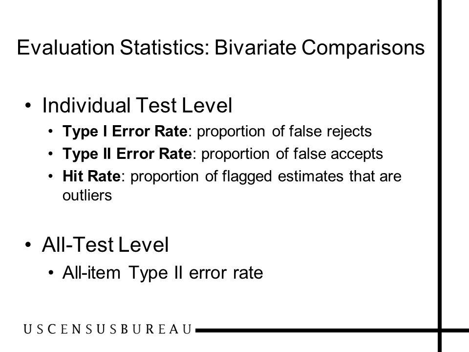 Evaluation Statistics: Bivariate Comparisons
