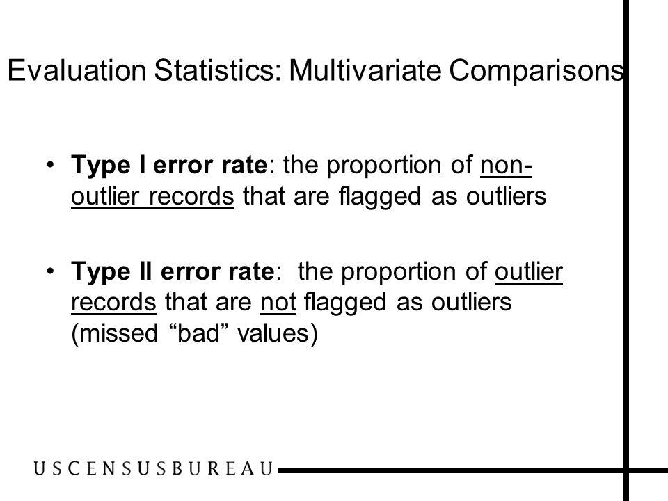 Evaluation Statistics: Multivariate Comparisons