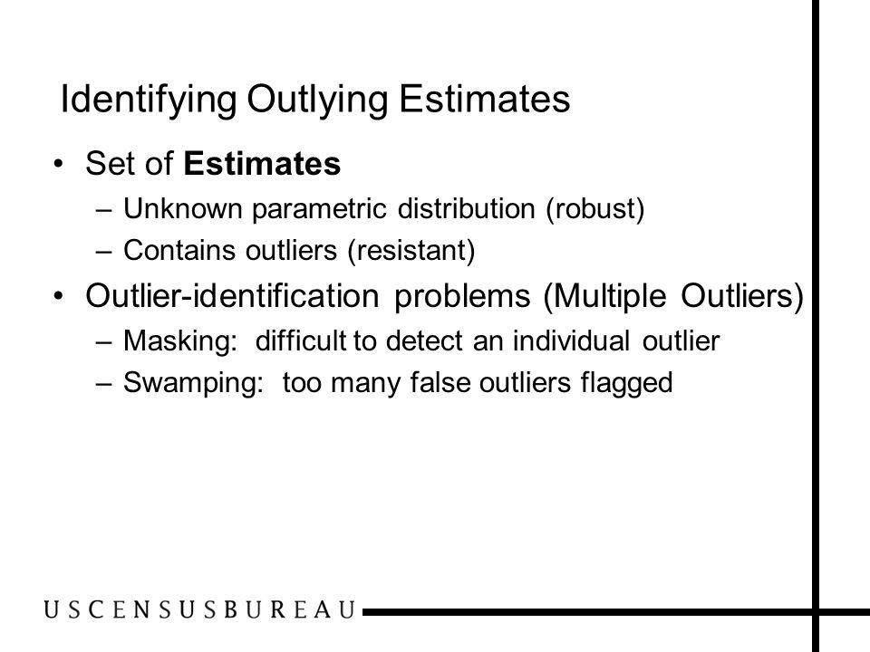 Identifying Outlying Estimates