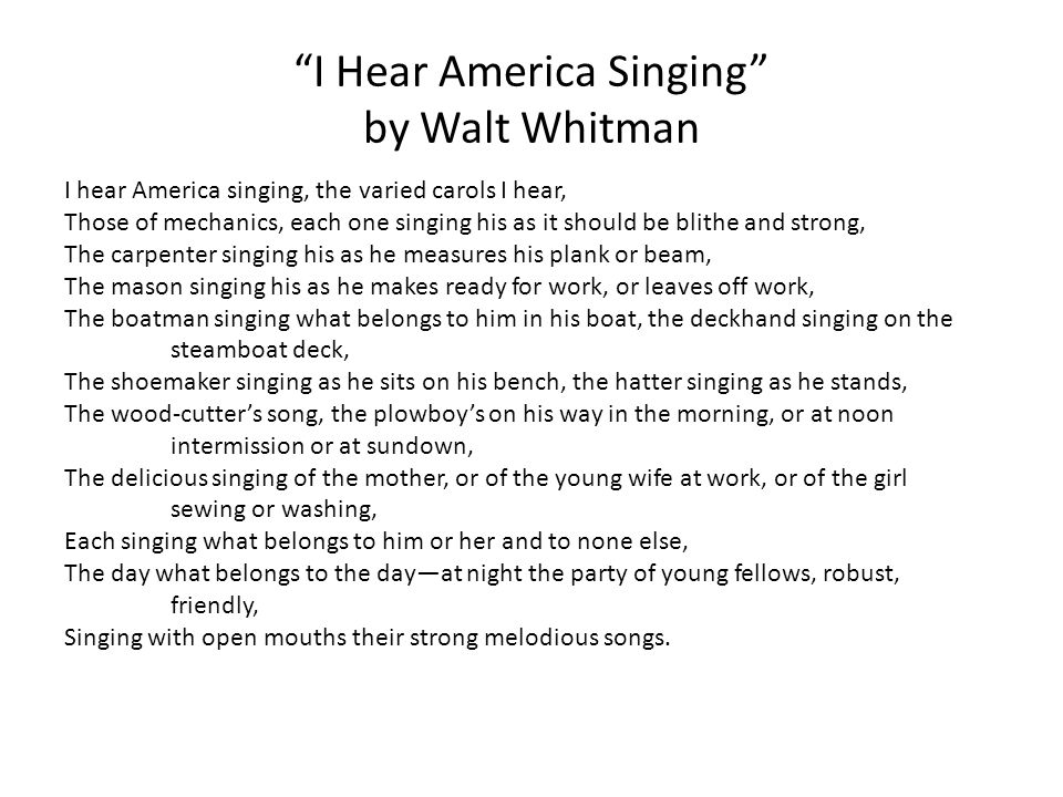 When I Heard At The Close Of The Day - Poem by Walt Whitman