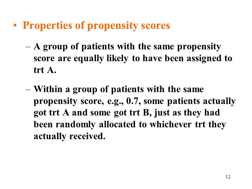 Properties of propensity scores