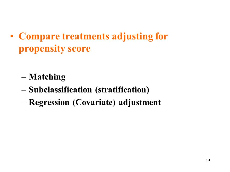 Compare treatments adjusting for propensity score