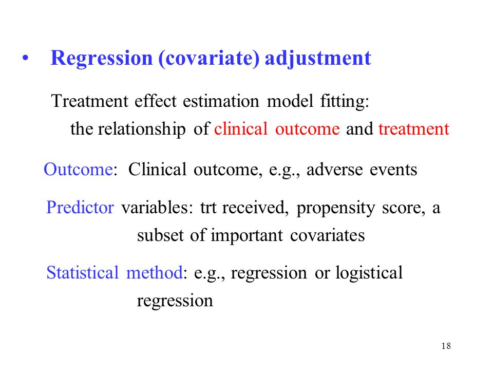 Regression (covariate) adjustment