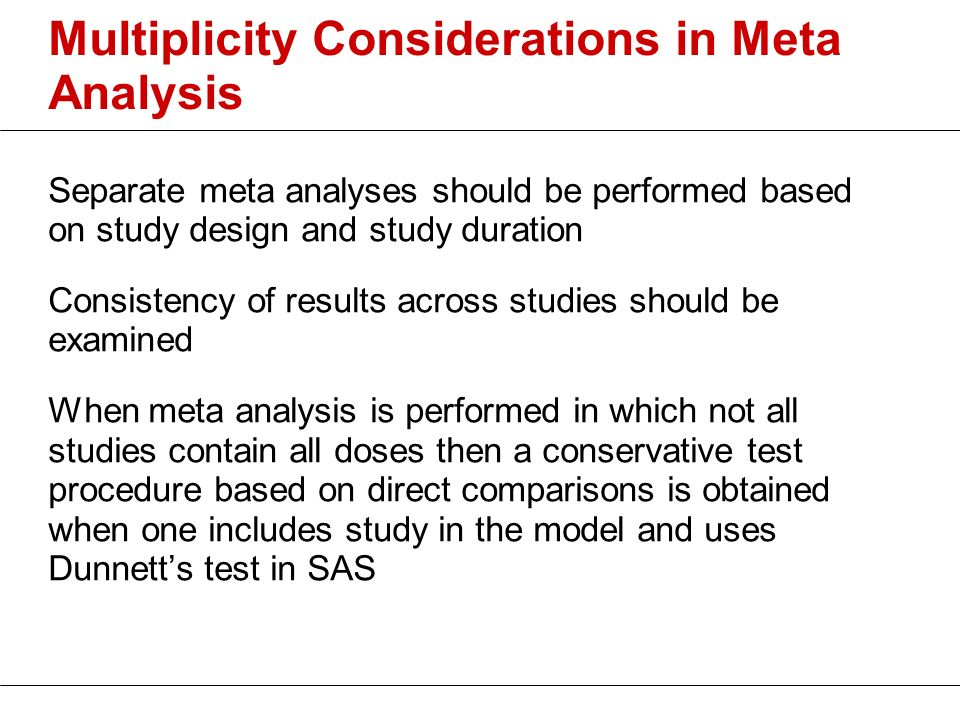 Multiplicity Considerations in Meta Analysis