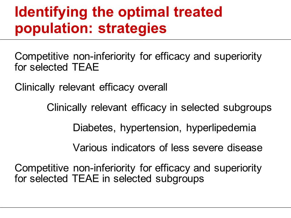 Identifying the optimal treated population: strategies