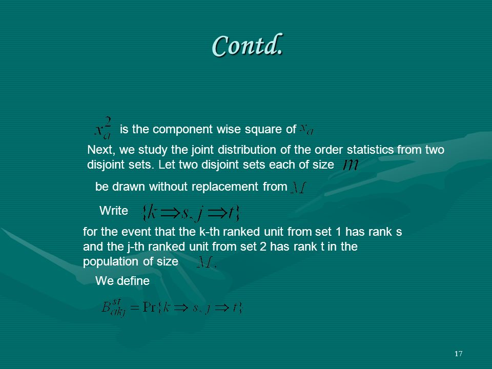 Contd. is the component wise square of