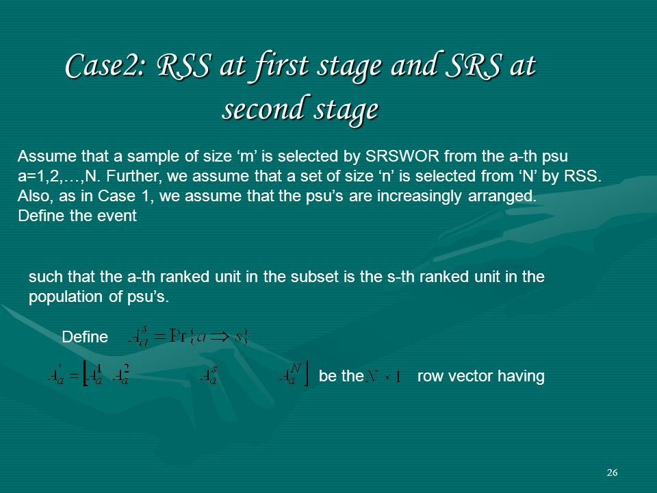 Case2: RSS at first stage and SRS at second stage