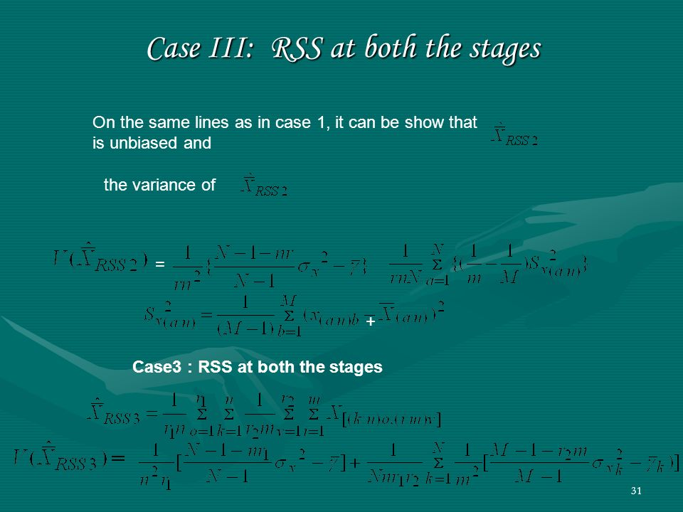 Case III: RSS at both the stages