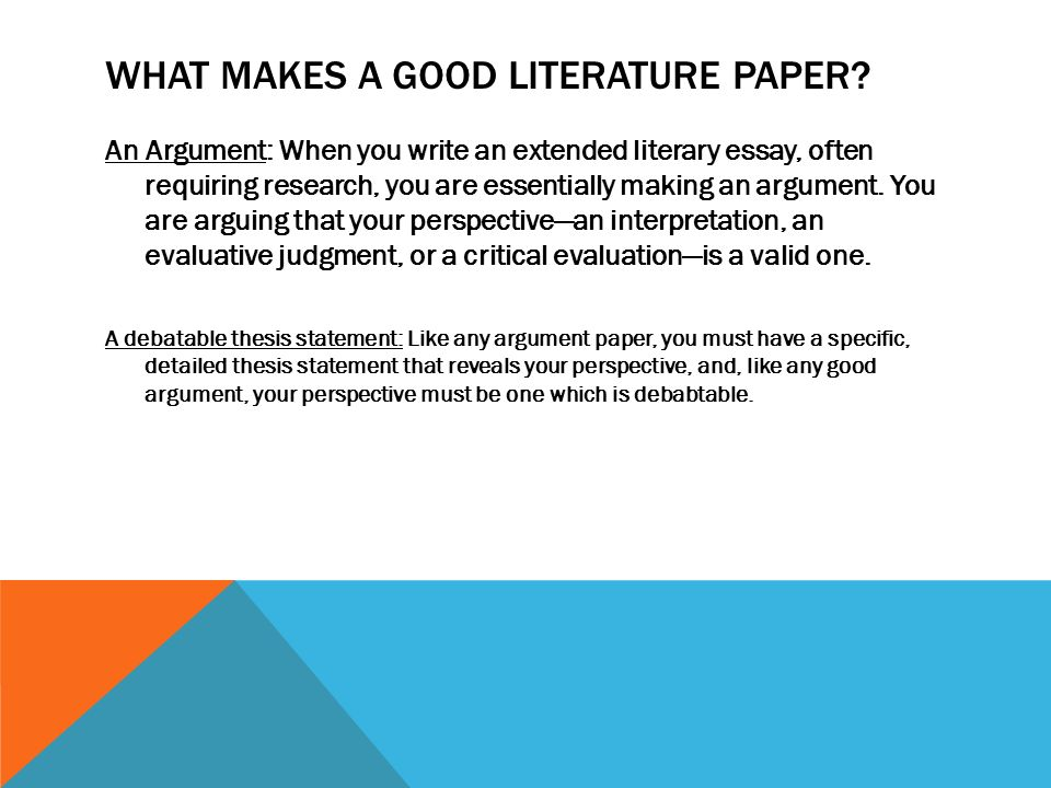 writing literary analysis ppt video online  what makes a good literature paper