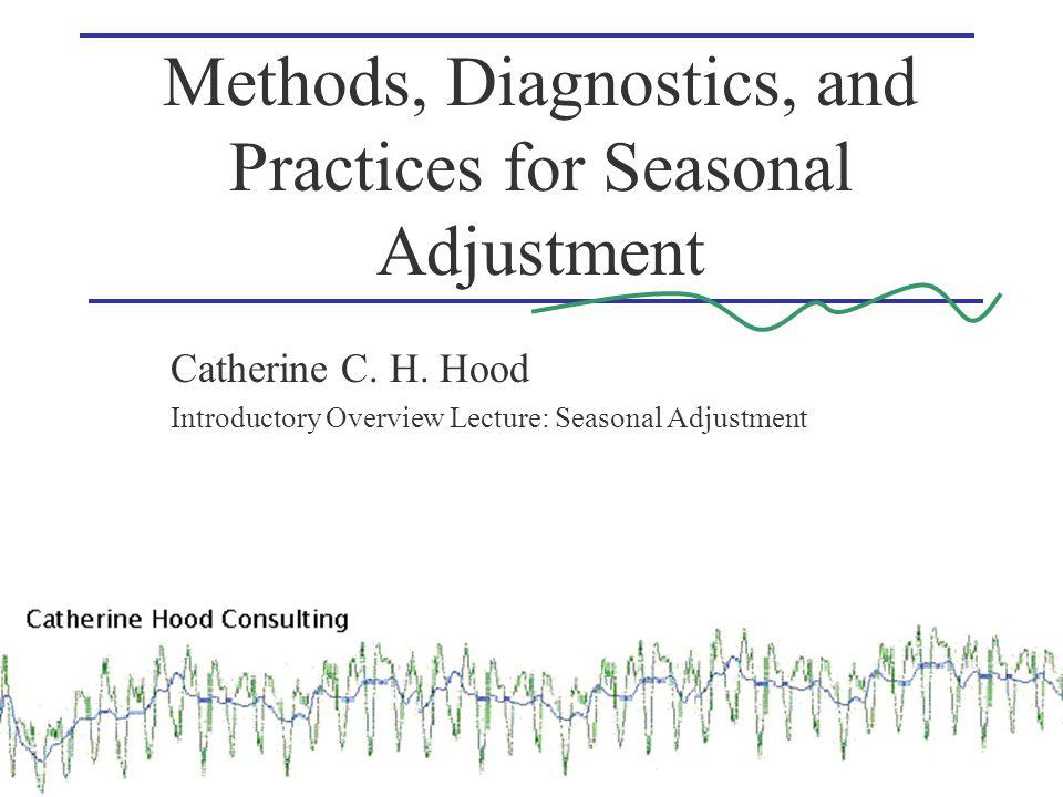 Methods, Diagnostics, and Practices for Seasonal Adjustment