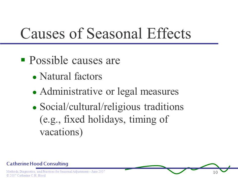 Causes of Seasonal Effects