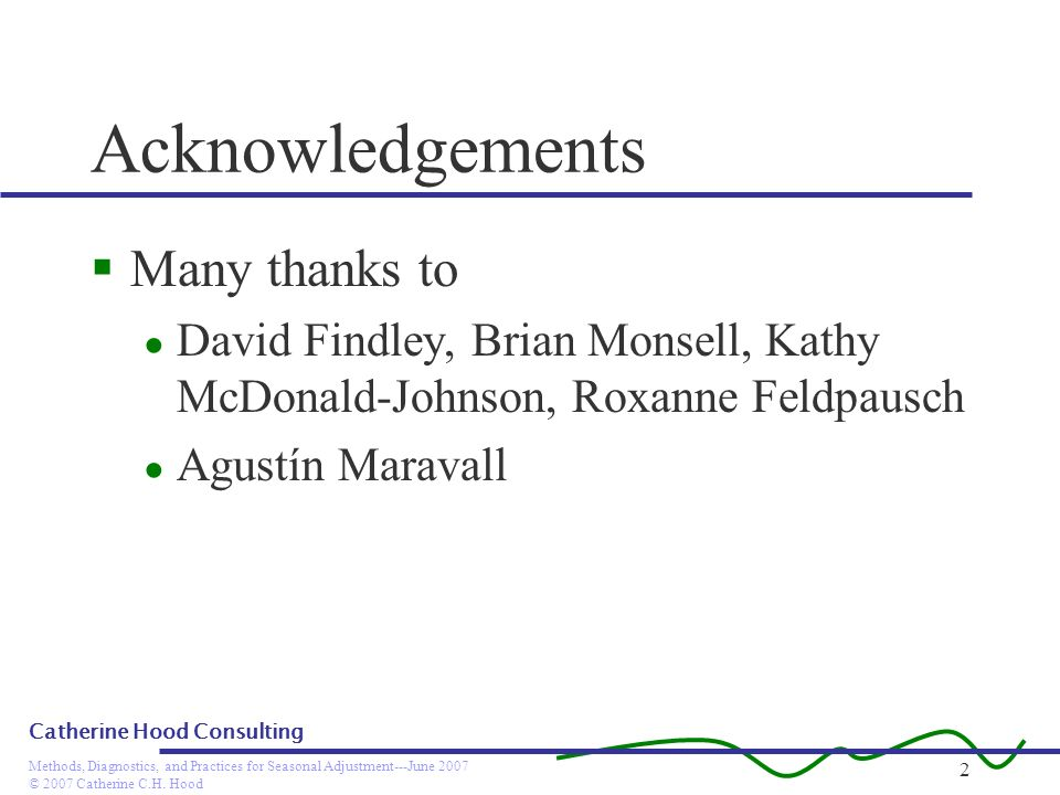 Acknowledgements Many thanks to