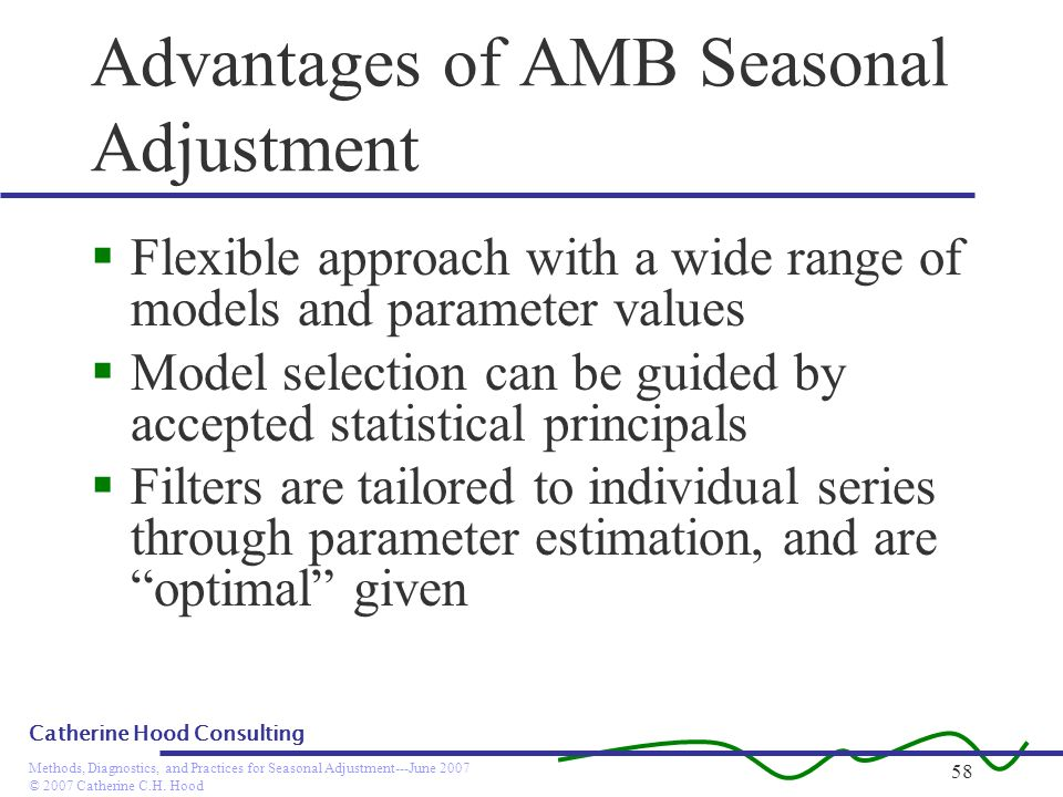 Advantages of AMB Seasonal Adjustment