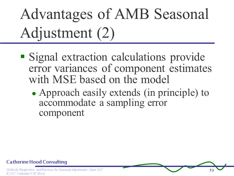 Advantages of AMB Seasonal Adjustment (2)