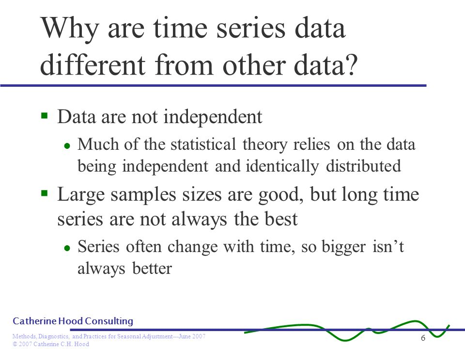 Why are time series data different from other data