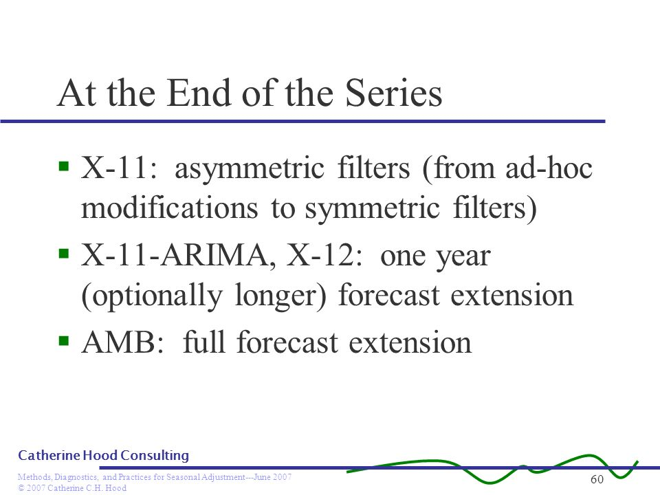 At the End of the Series X-11: asymmetric filters (from ad-hoc modifications to symmetric filters)