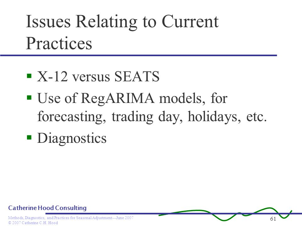 Issues Relating to Current Practices