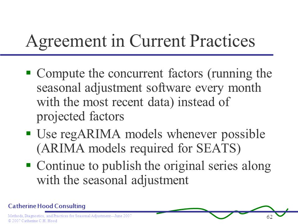 Agreement in Current Practices