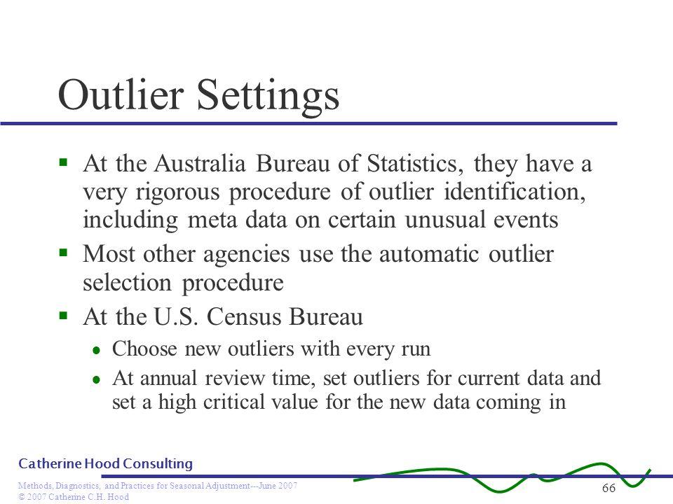 Outlier Settings