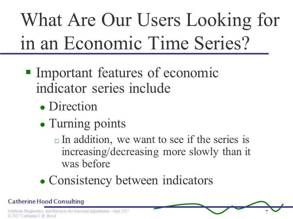 What Are Our Users Looking for in an Economic Time Series
