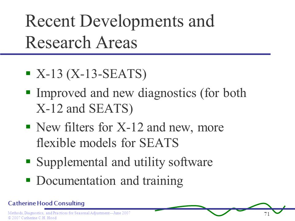 Recent Developments and Research Areas