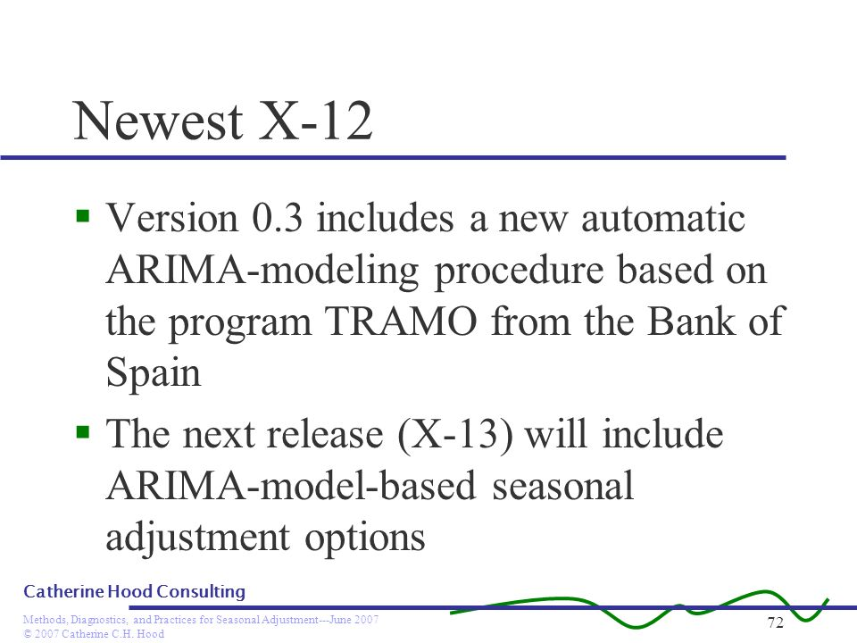 Newest X-12Version 0.3 includes a new automatic ARIMA-modeling procedure based on the program TRAMO from the Bank of Spain.