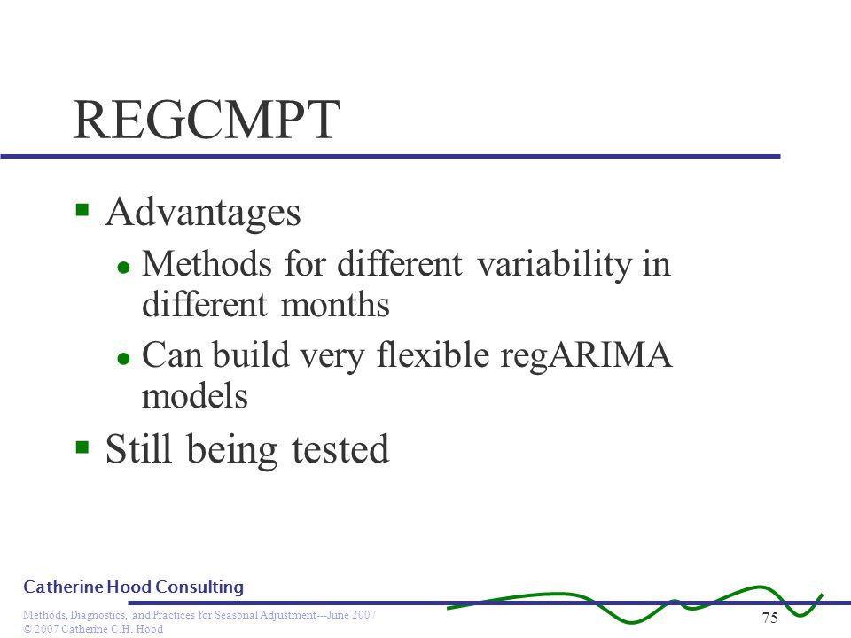 REGCMPT Advantages Still being tested