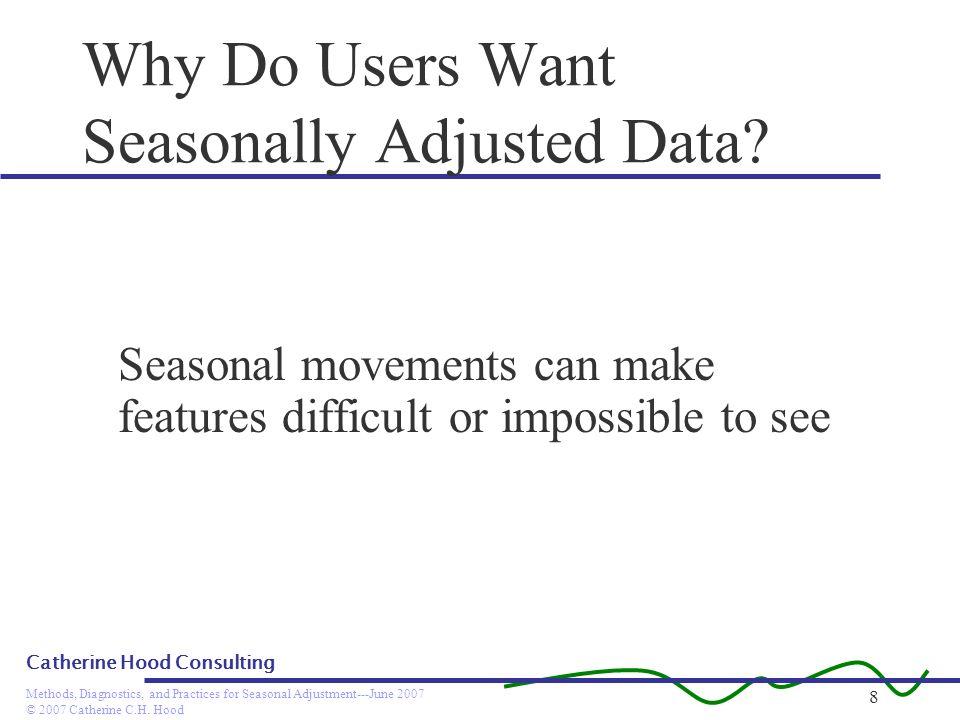 Why Do Users Want Seasonally Adjusted Data
