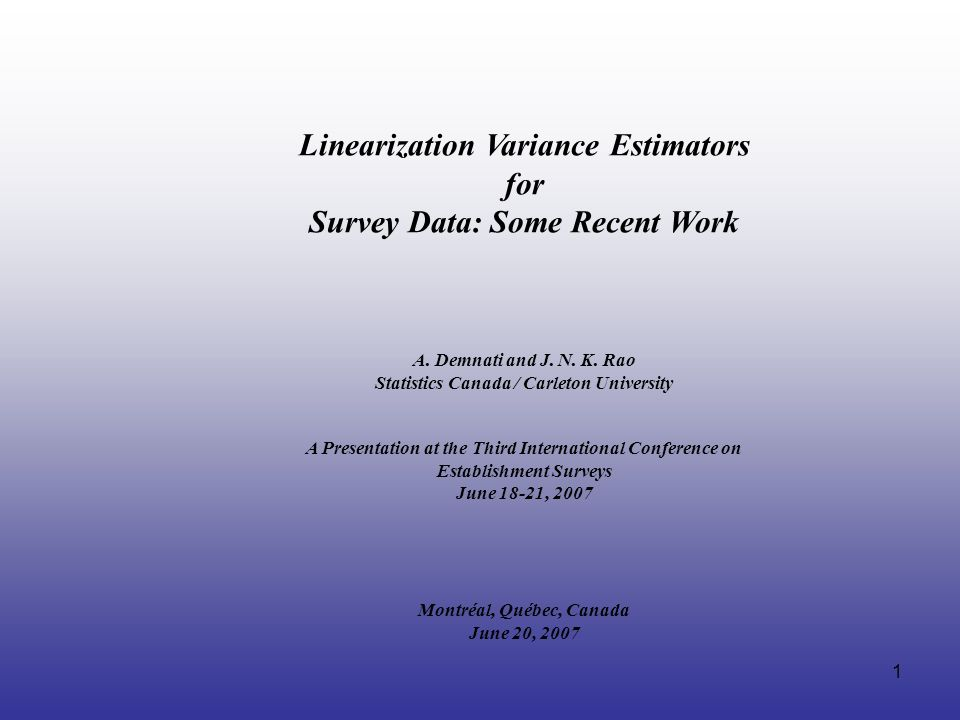 Linearization Variance Estimators for Survey Data: Some Recent Work