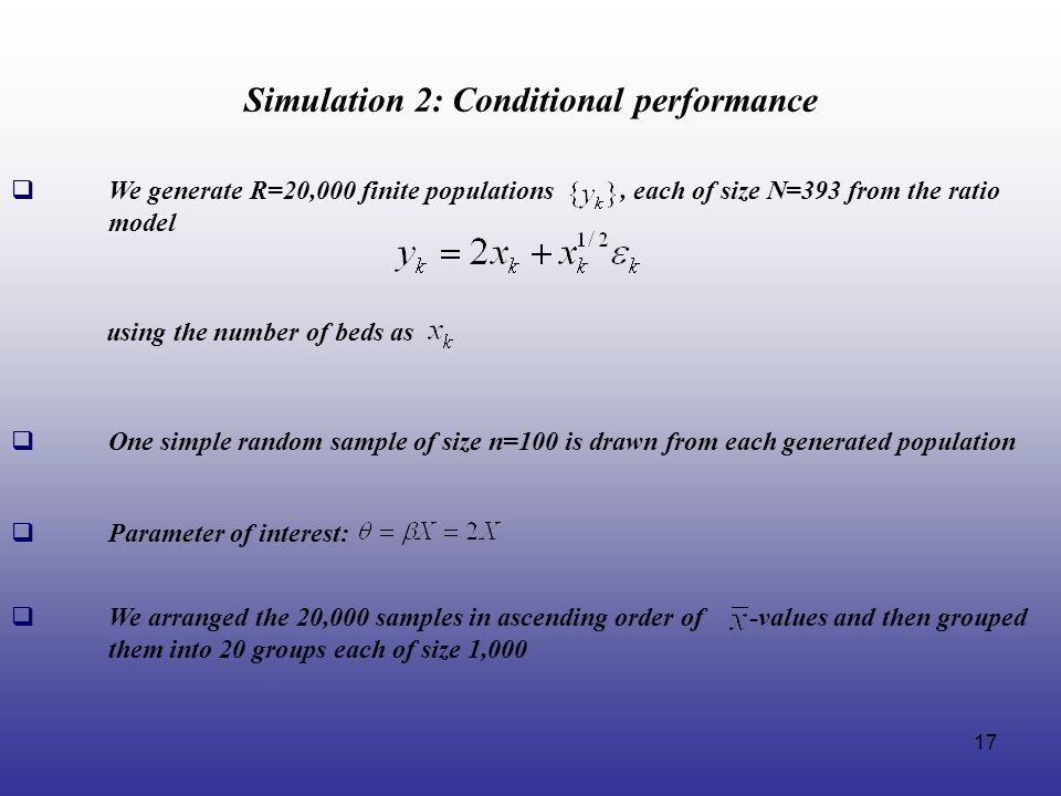 Simulation 2: Conditional performance