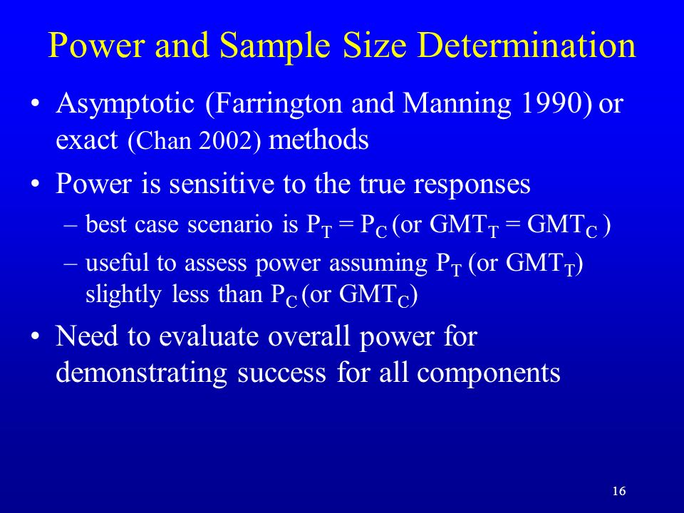 Power and Sample Size Determination