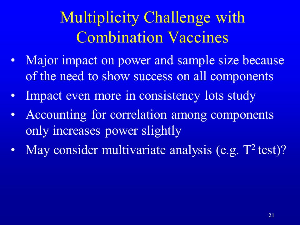 Multiplicity Challenge with Combination Vaccines