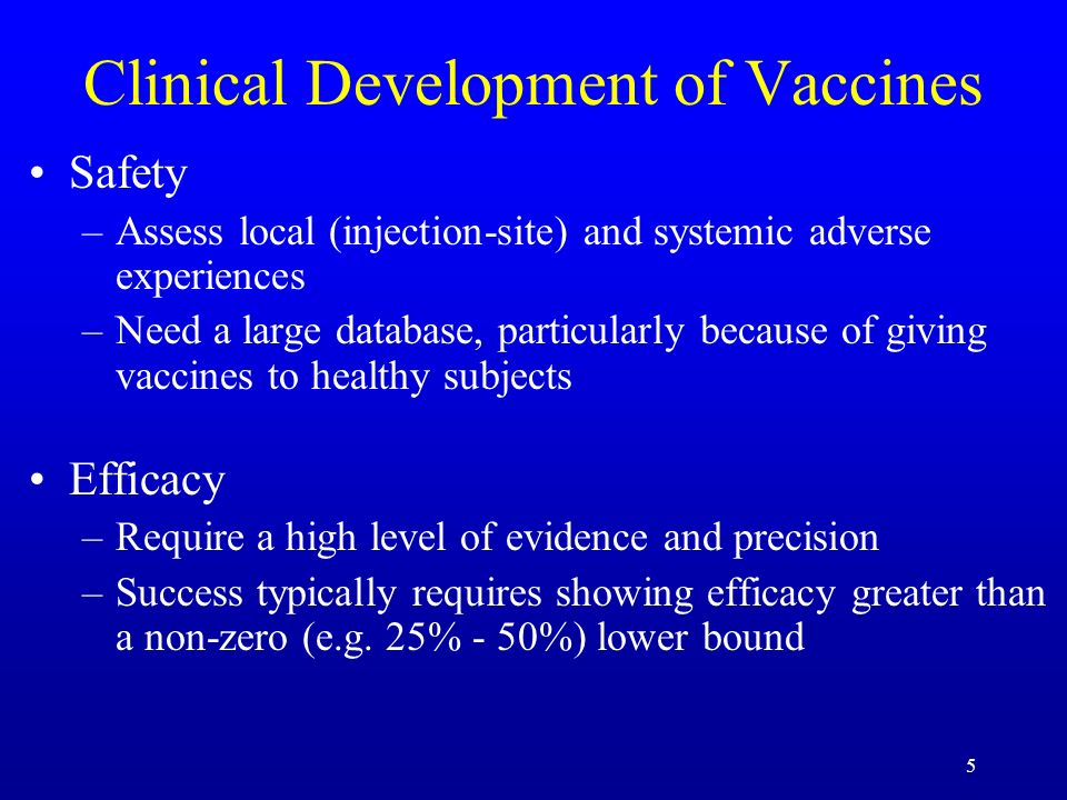 Clinical Development of Vaccines