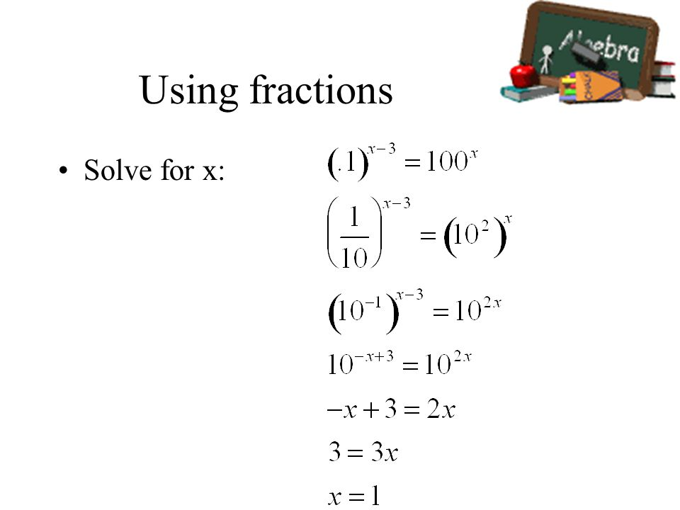 how to solve x 3