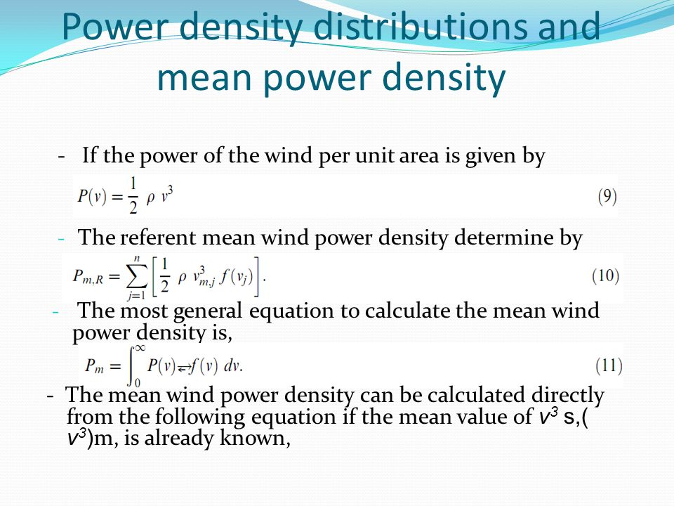wind to power formula