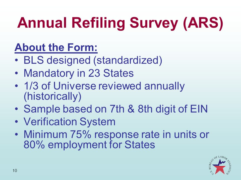 Annual Refiling Survey (ARS)